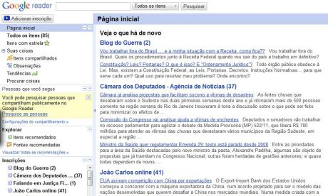 "A ""cara"" do Google Reader"