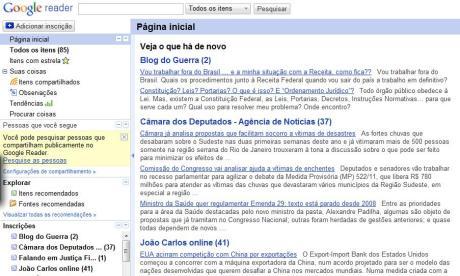 """A """"cara"""" do Google Reader"""