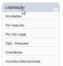 Legislação no site da Receita